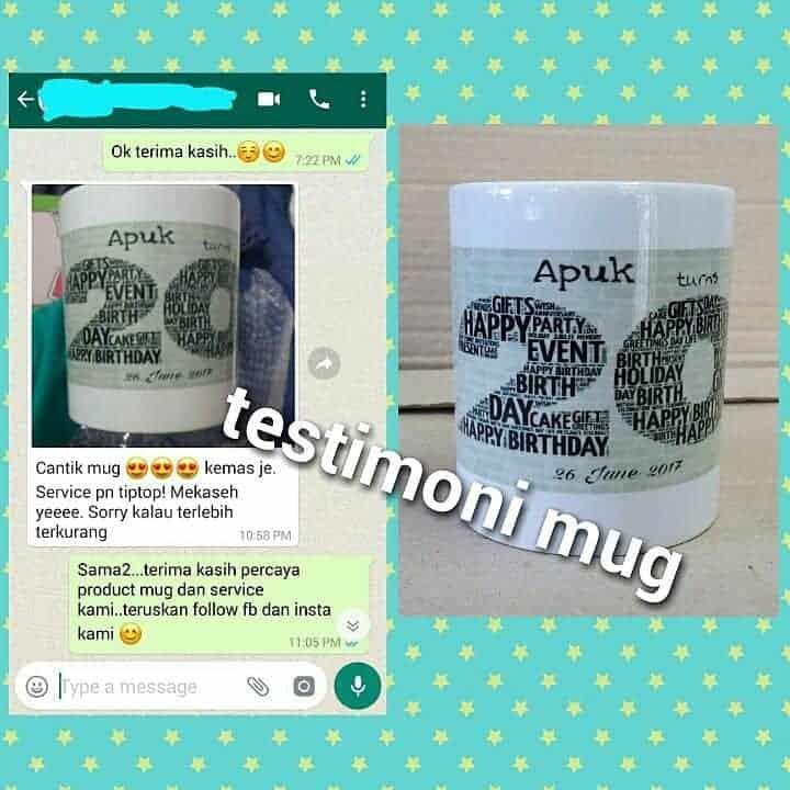 Testimoni Mug Printing Malaysia