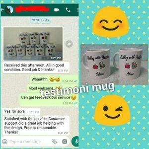 Testimoni Mug Printing Shah Alam